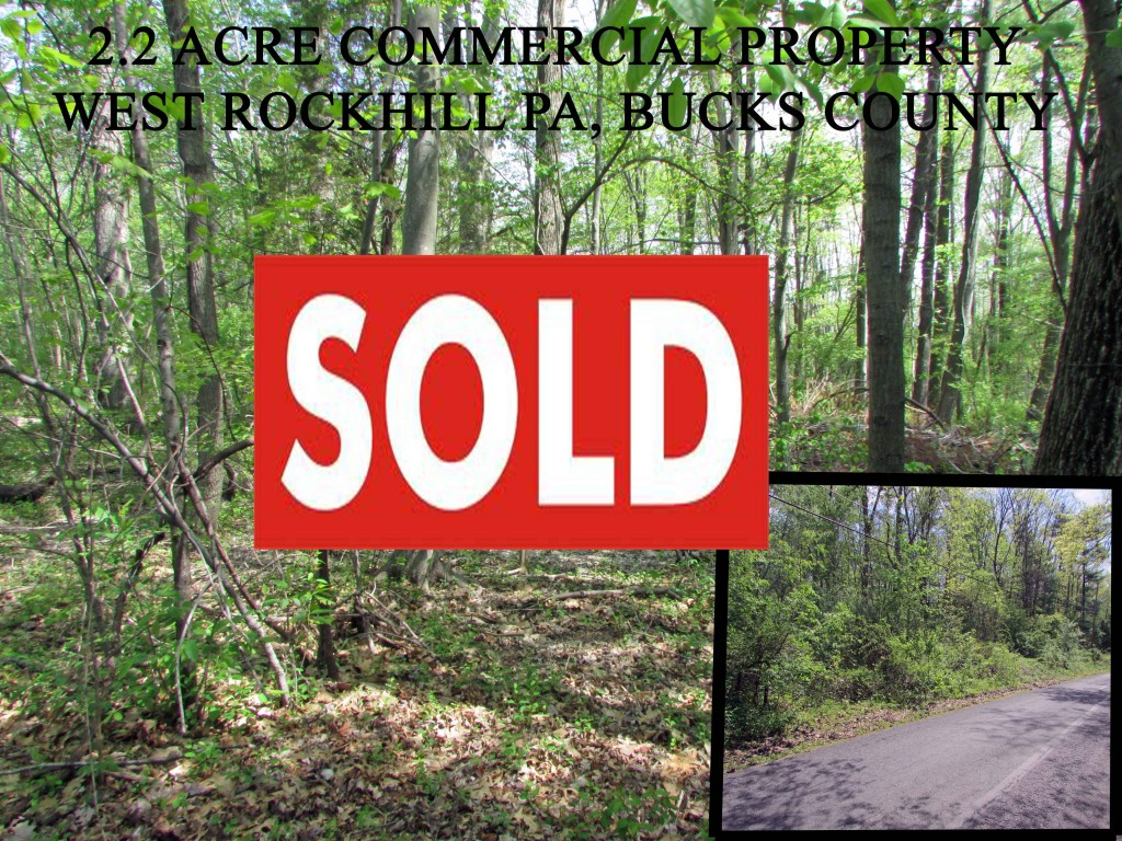 For Sale 2.2 Acre Rural Commercial Lot – Bucks County PA – 1.25 hrs to Philadelphia!! Only $17,900