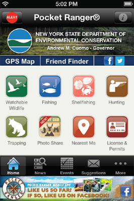 Download the new york fishing hunting wildlife app free for Utah hunting and fishing mobile app