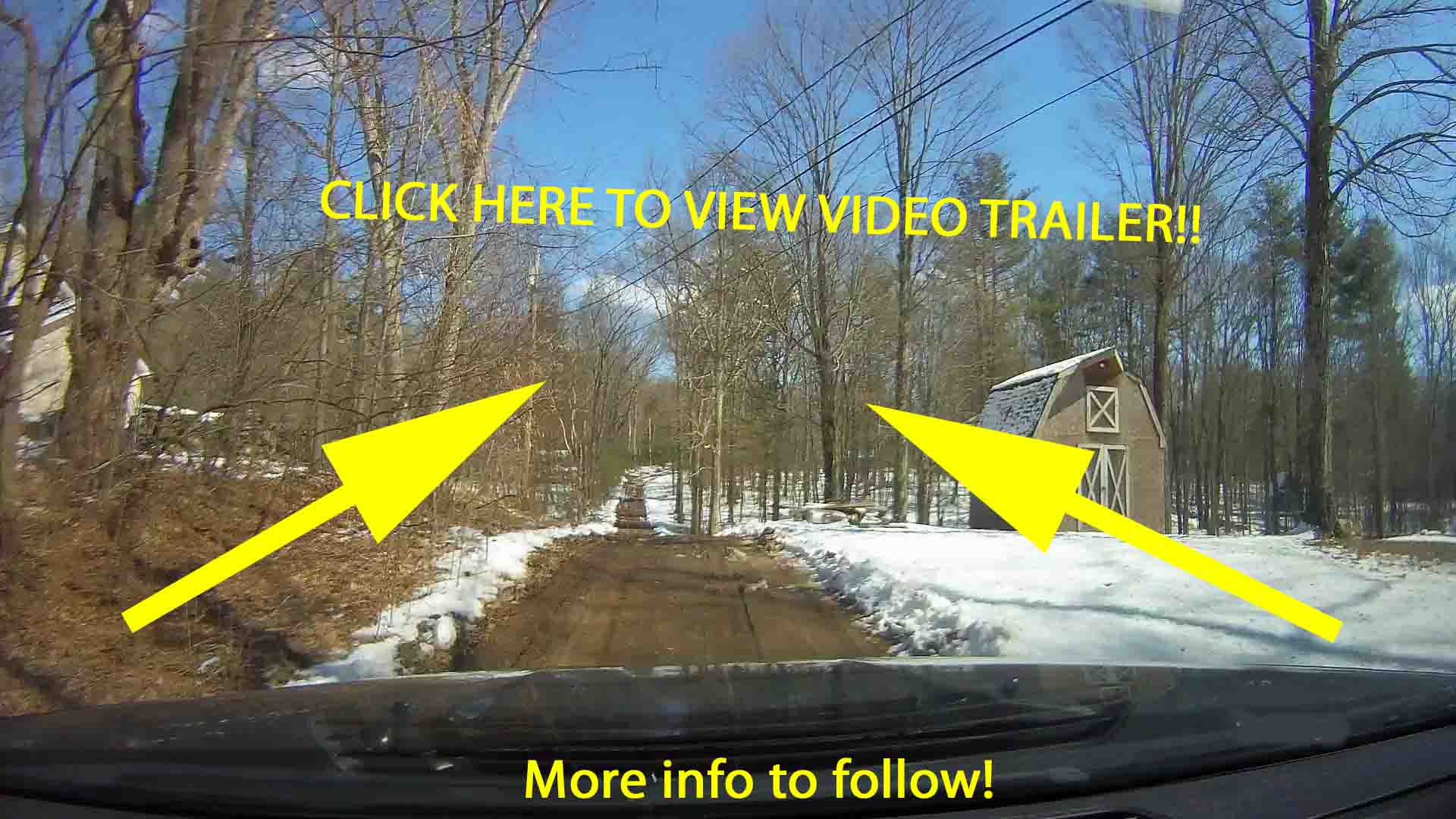 "Coming soon!! ""THE ROAD TO CAIRO"" 3 Private Acres, Mins to Windham Mt – Check out the trailer video – More info to follow."