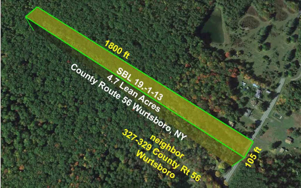 "4.7 ""Lean N Green"" Acres, Mamakating NY, Level, Wooded, Stream. Great location! Under 2 hrs/NYC. Only $24,900!"